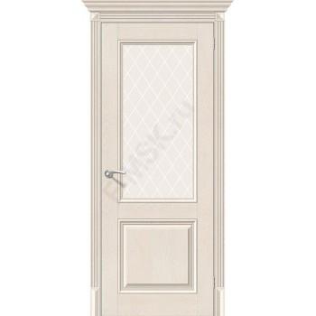 Дверь экошпон Классико-33 в цвете Cappuccino Softwood остекленная (Товар № ZF114002)