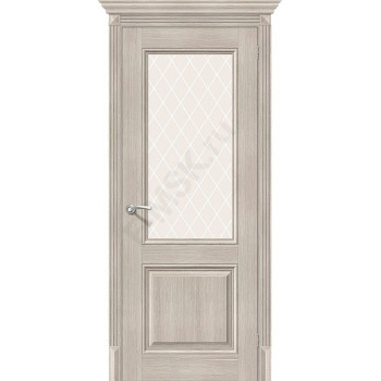 Дверь экошпон Классико-33 в цвете Cappuccino Veralinga остекленная (Товар № ZF113999)