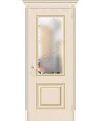 Дверь экошпон Классико-33G-27 в цвете Ivory остекленная (Товар № ZF114004)