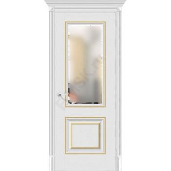 Дверь экошпон Классико-33G-27 в цвете Virgin остекленная (Товар № ZF114005)