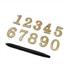 Номер дверной Золото Цвет: Золото  (Товар №  ZF16342)