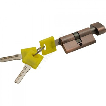 Цилиндр Ключ/фиксатор ZF-60-30/30 AC Медь  (Товар №  ZF16385)