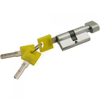 Цилиндр Ключ/фиксатор ZF-60-30/30 C Хром  (Товар №  ZF16382)