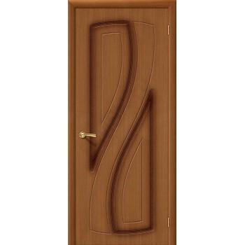 Межкомнатная шпонированная дверь Лагуна ПГ Орех файн-лайн BRAVO Цвет: Орех Глухая (Товар №  ZF4242)