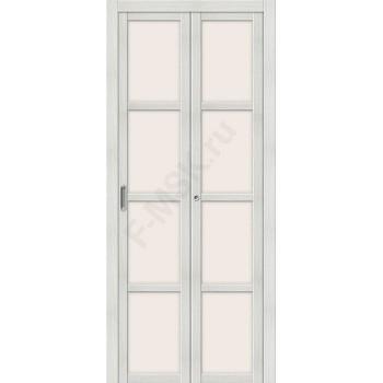Межкомнатная складная дверь с Эко шпоном Твигги V4 Bianco Veralinga el`PORTA  (Товар №  ZF16367)