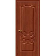 Межкомнатная дверь с ПВХ-пленкой Модена ПГ, итальянский орех BRAVO Цвет: Итальянский орех Глухая (Товар №  ZF4257)