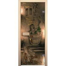 Дверь для бани и сауны Парилка Бронза тонированное АКМА Стеклянная (Товар №  ZF4304)