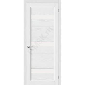 Межкомнатная дверь из Массива Леон ПЧО Зефир Vi LARIO Цвет: Зефир Остекленная (Товар №  ZF4289)