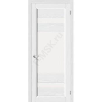 Межкомнатная дверь из Массива Леон ПО Зефир Vi LARIO Цвет: Зефир Остекленная (Товар №  ZF4291)