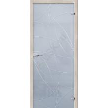 Аврора Белое Сатинато - стеклянная межкомнатная дверь АКМА  (Товар №  ZF4297)