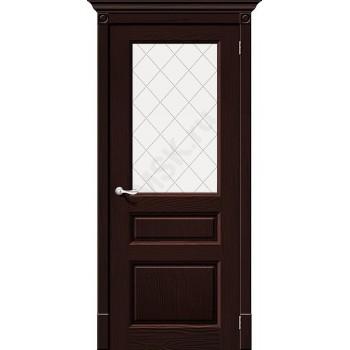 Межкомнатная дверь из Массива Леонардо ПО Венге Vi LARIO Цвет: Венге Остекленная (Товар №  ZF7117)