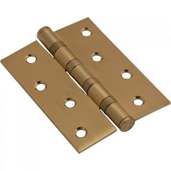 Дверная Петля 100*70*2,5 матовое золото  (Товар №  ZF4374)