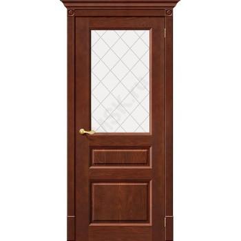 Межкомнатная дверь из Массива Леонардо ПО Орех Vi LARIO Цвет: Орех Остекленная (Товар №  ZF7118)
