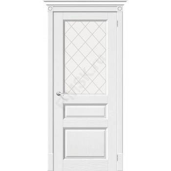 Межкомнатная дверь из Массива Леонардо ПО Зефир Vi LARIO Цвет: Зефир Остекленная (Товар №  ZF7119)