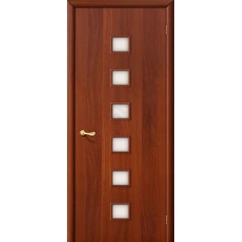 Межкомнатная ламинированная дверь 1с итальянский орех BRAVO Цвет: Итальянский орех Остекленная (Товар №  ZF7129)