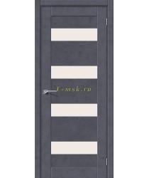 Дверь межкомнатная экошпон Легно-23 в цвете Graphite Art остекленная (Товар № ZF165672)