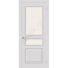 Межкомнатная окрашенная дверь Опера ПО Белый BRAVO Цвет: Белый Остекленная худ. (Товар №  ZF8961)