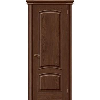 Межкомнатная шпонированная дверь Амальфи ПГ Виски BRAVO Люкс Цвет: Виски Глухая (Товар №  ZF8966)