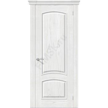 Межкомнатная шпонированная дверь Амальфи ПГ Жемчуг BRAVO Люкс Цвет: Жемчуг Глухая (Товар №  ZF8967)