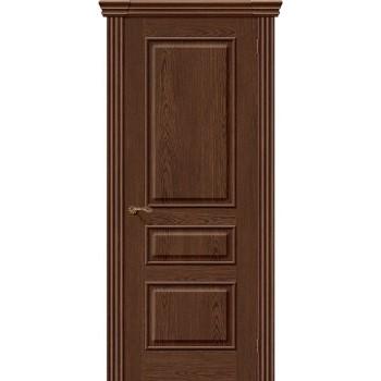 Межкомнатная шпонированная дверь Сорренто ПГ Виски BRAVO Люкс Цвет: Виски Глухая (Товар №  ZF8968)