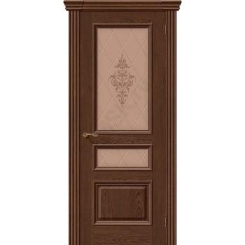 Межкомнатная шпонированная дверь Вена ПО Виски BRAVO Люкс Цвет: Виски Остекленная худ. (Товар №  ZF8982)