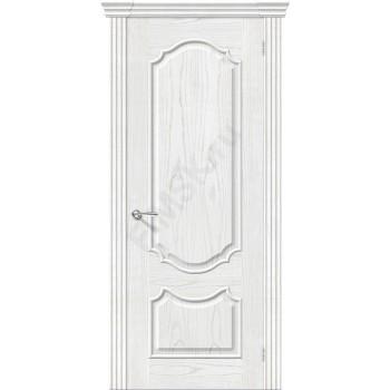 Межкомнатная шпонированная дверь Париж ПГ Жемчуг BRAVO Люкс Цвет: Жемчуг Глухая (Товар №  ZF8970)