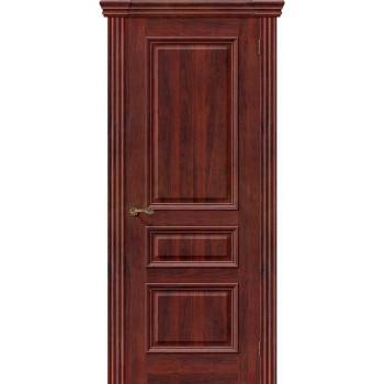Межкомнатная шпонированная дверь Вена ПГ Красное дерево BRAVO Люкс Цвет: Красное дерево Глухая (Товар №  ZF8973)