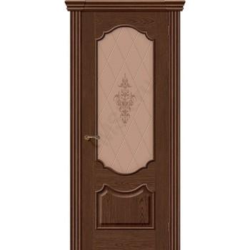 Межкомнатная шпонированная дверь Париж ПО Виски BRAVO Люкс Цвет: Виски Остекленная худ. (Товар №  ZF8975)