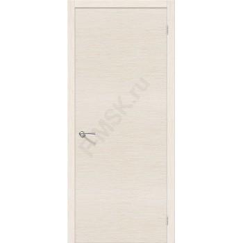 Межкомнатная шпонированная дверь Евро Г-0 ПГ Беленый дуб BRAVO Цвет: Беленый дуб Глухая (Товар №  ZF16375)