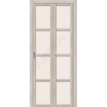 Межкомнатная складная дверь с Эко шпоном Твигги V4 Cappuccino Veralinga el`PORTA  (Товар №  ZF16371)