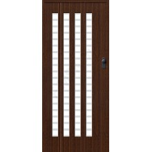 Межкомнатная раздвижная дверь (Гармошка) Браво-011 темный дуб BRAVO   (Товар №  ZF16314)