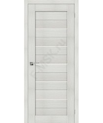 Межкомнатная дверь с эко шпоном Порта-22 ПО Bianco Veralinga el`PORTA Цвет: Bianco Veralinga Остекленная (Товар №  ZF10533)