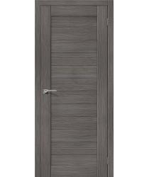 Межкомнатная дверь с эко шпоном Порта-21 ПГ Grey Veralinga el`PORTA Цвет: Grey Veralinga Глухая (Товар №  ZF10526)