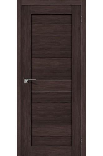 Межкомнатная дверь с эко шпоном Порта-21 ПГ Wenge Veralinga el`PORTA Цвет: Wenge Veralinga Глухая (Товар №  ZF10528)