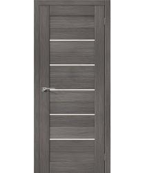 Межкомнатная дверь с эко шпоном Порта-22 ПО Grey Veralinga el`PORTA Цвет: Grey Veralinga Остекленная (Товар №  ZF10530)
