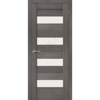 Межкомнатная дверь с эко шпоном Порта-23 ПО Grey Veralinga el`PORTA Цвет: Grey Veralinga Остекленная (Товар №  ZF10527)