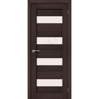 Межкомнатная дверь с эко шпоном Порта-23 ПО Wenge Veralinga el`PORTA Цвет: Wenge Veralinga Остекленная (Товар №  ZF10534)
