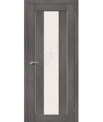 Межкомнатная дверь с эко шпоном Порта-25 alu Grey Veralinga el`PORTA Цвет: Grey Veralinga Остекленная (Товар №  ZF10539)