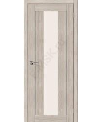 Межкомнатная дверь с эко шпоном Порта-25 alu Cappuccino Veralinga el`PORTA Цвет: Cappuccino Veralinga Остекленная (Товар №  ZF10540)