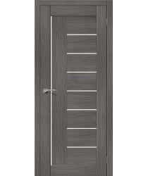Межкомнатная дверь с эко шпоном Порта-29 ПО Grey Veralinga el`PORTA Цвет: Grey Veralinga Остекленная (Товар №  ZF10537)