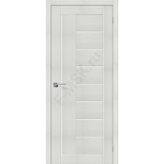 Межкомнатная дверь с эко шпоном Порта-29 ПО Bianco Veralinga el`PORTA Цвет: Bianco Veralinga Остекленная (Товар №  ZF10544)