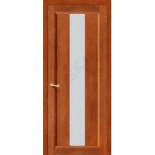 Межкомнатная дверь из Массива Вега-18 ПО темный орех Vi LARIO Цвет: Темный орех Остекленная (Товар №  ZF10556)