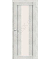 Межкомнатная дверь с эко шпоном Порта-25 alu Bianco Veralinga el`PORTA Цвет: Bianco Veralinga Остекленная (Товар №  ZF10542)