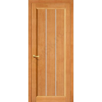 Межкомнатная дверь из Массива Вега-19 ПО светлый орех Vi LARIO Цвет: Светлый орех Остекленная (Товар №  ZF10561)
