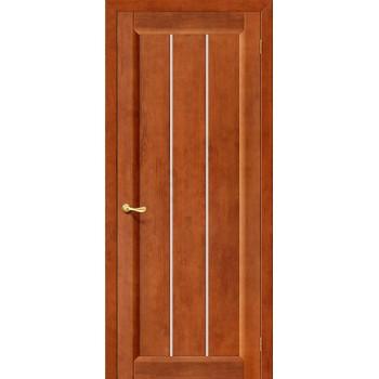 Межкомнатная дверь из Массива Вега-19 ПО темный орех Vi LARIO Цвет: Темный орех Остекленная (Товар №  ZF10562)