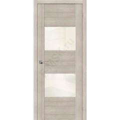 Межкомнатная дверь с Эко шпоном VG2 Cappuccino Veralinga White Pearl el`PORTA Цвет: Cappuccino Veralinga Остекленная (Товар №  ZF10598)
