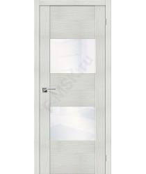 Межкомнатная дверь с Эко шпоном VG2 Bianco Veralinga White Waltz el`PORTA Цвет: Bianco Veralinga Остекленная (Товар №  ZF10599)