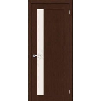 Межкомнатная шпонированная дверь Евро-2 ПО Венге BRAVO Цвет: Венге Остекленная (Товар №  ZF10595)