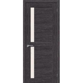 Межкомнатная шпонированная дверь Евро-16 ПО Абрикос BRAVO Цвет: Абрикос Остекленная (Товар №  ZF10585)