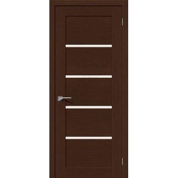 Межкомнатная шпонированная дверь Евро-10 ПО Венге BRAVO Цвет: Венге Остекленная (Товар №  ZF10586)